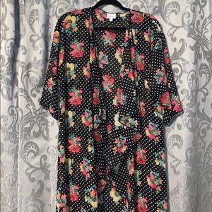 M LuLaRoe Shirley Floral Kimono